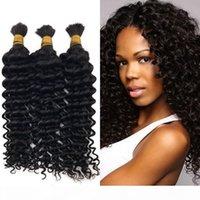 3 pcs cabelo humano onda profunda granel malaio não processado cabelo natural cor encaracolado cabelo em massa para trançamento fdshine