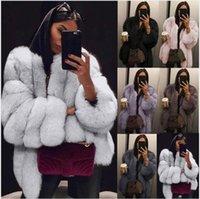 Норка Пальто Женщины Зимняя Топ Мода Розовый Женщин Шерфер Элегантная Толстая Теплая Верхняя одежда Поддельная куртка