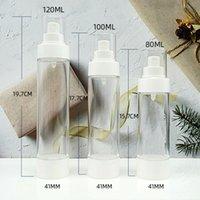 80ml 100ml 120ml Empty White Airless Pump Dispenser Bottle Refillable Lotion Cream Vacuum Spray Atomizer