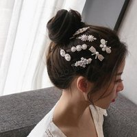 Pearl Metal Gold Color Hair Clip Bobby Pin Barrette Hairband Hairpin Headdress women girls Lady Hair Styling Tool party favorps2764