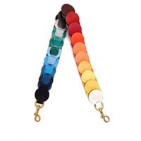 서클 링크 어깨 끈 무지개 라운드 다채로운 핸드백 스트랩 가죽 가방 벨트 세련된 지갑 핸들 장식