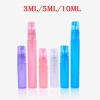 50pcs 3ml 5ml 10ml Empty Portable Atomiser Spray Bottles Perfume Pen Vials Makeup Cosmetic Plastic PP Travel Sample Containers