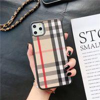 Top Moda Telefono Casi per iPhone 12 Pro Max 11 XR XS 7/8 Plus PU Shell Shell Ape Samsung S20 S10