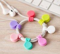 다기능 실리콘 자기 와이어 케이블 주최자 전화 키 코드 클립 USB 이어폰 클립 데이터 라인 저장 홀더 DHD5555