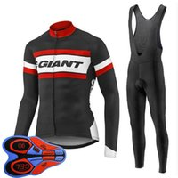 Pro Team Giant Giant Cycling Abbigliamento Bike Jersey Ropa Ciclismo Mens Bicycle Uniform Cycling Jersey 9D Gel Pad Pantaloni Bike Suit Y103013