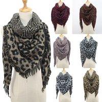 Women Winter Warm Scarves Leopard Print Long Wrap Shawl Stole Cape Scarf 3in1 Unisex Ski Snood