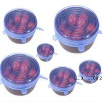 Silicona estiramiento de succión párrafos de párpados de grado alimenticio de silicona fresco mantenimiento sello de envoltura tapa pan tapa accesorios de cocina agradable EWB5600