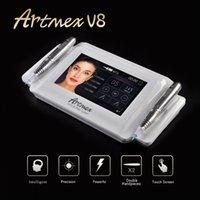 Professionnel ArtMex V8 Maquillage permanent Machine de tatouage numérique à sourcils de la lèvre Eyrine MTS / PMU Pen Rotary Dermapen