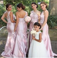 2021 One Shoulder Bridesmaid Dresses for Wedding Party Guest Gown Maid of Honor Halter Backless Custom made