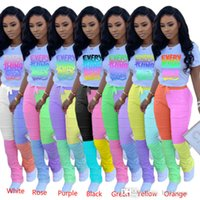 Women Tracksuits Desinger Two Piece Outfits 2 Piece Set Sports Strip Long Sleeve Micro Flared Pants Zipper Top Stacked Leggings Jogging Suit