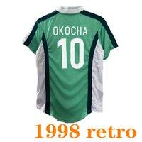 Retro Jersey Jersey 1998 Kanu Okocha Okocha Oliseh Finidi Yekini Babangida África Ocidental National Team 98 Camisa Clássica do Futebol Vintage