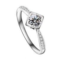 HBP мода роскошь сладкое основание в форме сердца в форме сердца Super Flash Высокое качество циркона темпераментное кольцо с высоким качеством