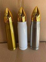 17oz sublimação Bullet Cups 500ml de aço inoxidável garrafas de água transferência de calor forma de bala de tumblers parede dupla isolado beber canecas A12