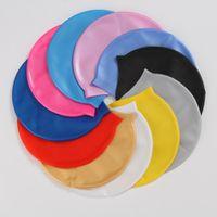 16 Цветов Силиконовые Водонепроницаемые Крышки для плавания Защита от ухо Длинные Волосы Спортивные Спортивные Купальники Бассейн Шляпа Плавательная Шапка