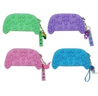 Game Controllers Push Fidget Toy Sensory Autism Special Needs Anxiety Stress Reliever for Office Fluorescen Coin Purse RRB11305