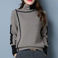 스웨터 2021 Turtleneck 여성 가을 / 겨울 새해 뉴 풀오버 느슨한 외부 착용 서양 패션 두꺼운 짧은베이스 셔츠