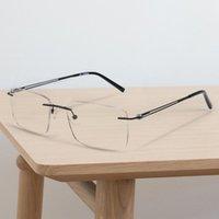Zenottic Pure Titanium Rimless Computer Glasses Frame Men Ultralight Anti Blue Light Gafas EyeGasas de prescripción óptica