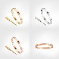 amor tornillo pulsera 4 diamantes diseñador clásico 5.0 pulsera de oro joyería de lujo mujeres titanio acero oro chapado nunca se desvanece no alérgico