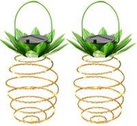 인공 식물 태양 정원 조명 파인애플 모양 태양 매달려 빛 방수 벽 램프 요정 야간 조명 철 와이어 아트 홈 gwe8119