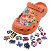 Wholesale Popular Croc Charms Fit for Clog Shoes and Wristband Bracelet Decoration Kids Teen Adulty Party Gifts