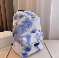 2021 Mens Womens Fashion Backpacks School Bags Latest Blue Tie-dye Backpack Designers Luxurys High-quality Summer Rendering Bags