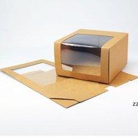Caja de sombrero de papel con ventana de PVC gorra de béisbol de boina de boina con sombrero de embalaje caja de embalaje caja de embalaje al por mayor HWD8472