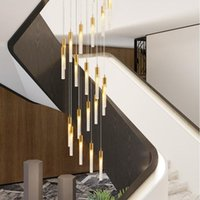 Anpassen Luxus Kronleuchter Blase Klar Kristall Hellgold Pendelleuchte Für Treppen Wohnzimmer Villa Restaurant Hängende Beleuchtung Runde Baldachin