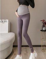 Primavera casual maternidad legging cintura elástica deportes de la cintura ropa de legging para mujeres embarazadas otoño embarazo lápiz pantalones