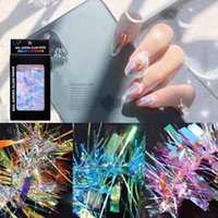 Nail Aurora Glass Paper Art Decorations Laser Mirror Sticker Symphony Colors