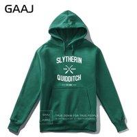 """GAAJ """"Slytherin Quidditch Takımı"""" Baskı Mektubu Erkekler Hoodie Kadınlar Casual Streetwear Hoodies Coats Casual Homme Yeni Ceket 201020"""