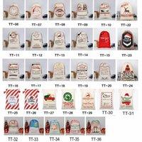 2021 Derniers styles Sacs-cadeaux de Noël Grand Sac de cordon de cordon Santa Sac Santa Santa San avec Reindeers CY0022