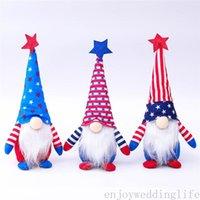 Патриотический день американский день независимости гнома карликовая кукла 4 июля подарочные звезды и полосы ручной работы скандинавские украшения дети кукла