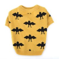 Dog Apparel Halloween Pet Sweater Cute Cat Bat Pattern Cloth Winter Puppy Scarf Christmas Clothes Knitwear Warm Clothing
