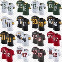 Mens Womens Youth 11 Chase Claypool 90 T.J. Watt 12 Tom Brady 87 Rob Gronkowski 12 Aaron Rodgers 17 Aaron Jones Football Jerseys
