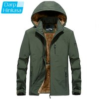 DARPHINKASA Winter Warm Men Parkas Jackets Thick Fashion Casual Parka Coat Windproof Hooded Plus Size