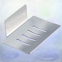 Soap Dishes Stainless Steel Rack Draining Board Practical Wall Mounted Bathroom Storage Box (Punch)