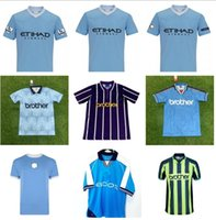 Retro Classic 1972 1989 1998 1998 2000 2011 2012 City Soccer Jerseys Silva Tevez Kun Agüero Kompany Toure Yaya Balotelli 11/12 كرة القدم قميص S-2XL