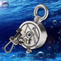 FreeShipping Сильный Неодимовый Магнит Двухсторонний Поиск Магнитный Крюк D48 - D74 * 28 мм Супер Силеусинальная Сотрудничество Рыболовный Магнитный Стелл