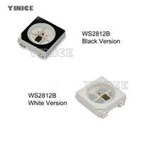 스트립 WS2812B LED 칩 10 ~ 1000PCS RGB SMD 블랙 / 화이트 버전 WS2812 개별적으로 어드레싱 가능한 디지털 5V 스트립 용