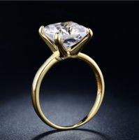 Victoria WIEeck Luxus Schmuck Solitaire 925 Sterling Silbergold Füllung Smaragdschnitt Weiß Topas CZ Diamant Edelsteine Frauen Hochzeit Band Ring