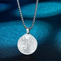 Pendant Necklaces Ancient Greek Mythology Neckalce For Women The Goddess Of Victory Stainless Steel Jewelry Vintage Men Necklace