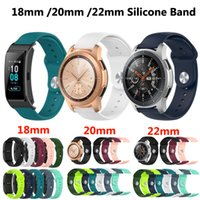 Universal 18mm 20mm 22mm Silicone Strap Watchband for Samsung Galaxy Watch 42mm 46mm Active2 40mm 44mm Gear S2 S3 Band Bracelet Xiaomi Huawei GT2 Garmin