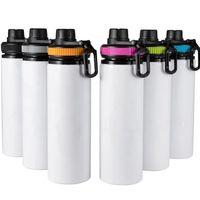 600 мл 20 унций DIY Сублимационные заготовки белая бутылка для воды кружка чашки певица слой алюминиевые тумблеры питья чашка с крышками 5 цветов по DHL