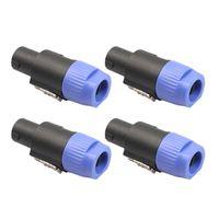 Smart Power Plugs 4PCS 4 POLLE Lautsprecher-Plug Twist Lock-Kabelanschluss für Neutrik-Speakon NL4FC
