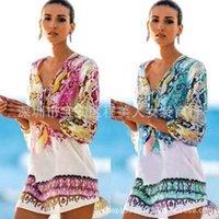 2020 Estilo Nueva moda Color Snake Print Vestido de gasa Playa Cubierta Bikini