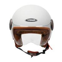 Motorradhelme Yema Helm Crash Motorräder für Erwachsene Moto Halb Sicherheit Männer
