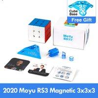 أحدث 2020 moyu rs3 m المغناطيسي 3x3x3 ماجيك مكعب mf3rs3 m 3x3 magico cubo rs3m المغناطيسي مكعب 3 * 3 سرعة لغز لعب للأطفال l0226