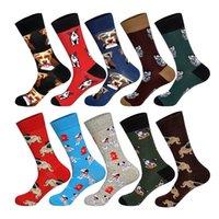 Men's Animals Dogs Socks Man's Dress Cotton Funny Socks Casual Cotton Sport Socks Men's European 38-45 Size