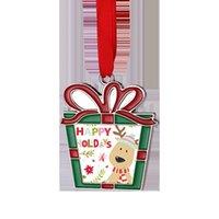 Sublimazione Blank Metal Decorazioni di Natale Trasferimento di calore Babbo Natale Pendente Pendente di Natale Albero di Natale Ornamento Forniture per feste T2i52402