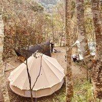 Camping Tente Toiture extérieure 5-8 Personne Équipement Canopy Gardien De Mariage Gardon Backyard Partie Toile Accessoires Preuve de pluie Grand